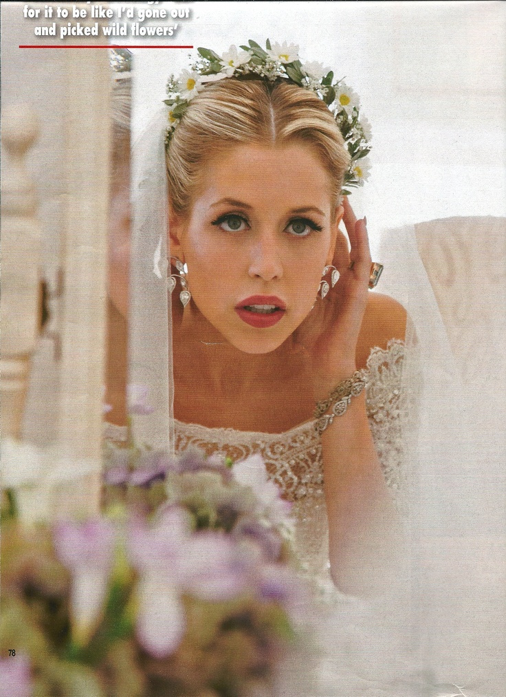 Peaches Geldof. Her wedding dress, headpiece, jewellery... all perfection.