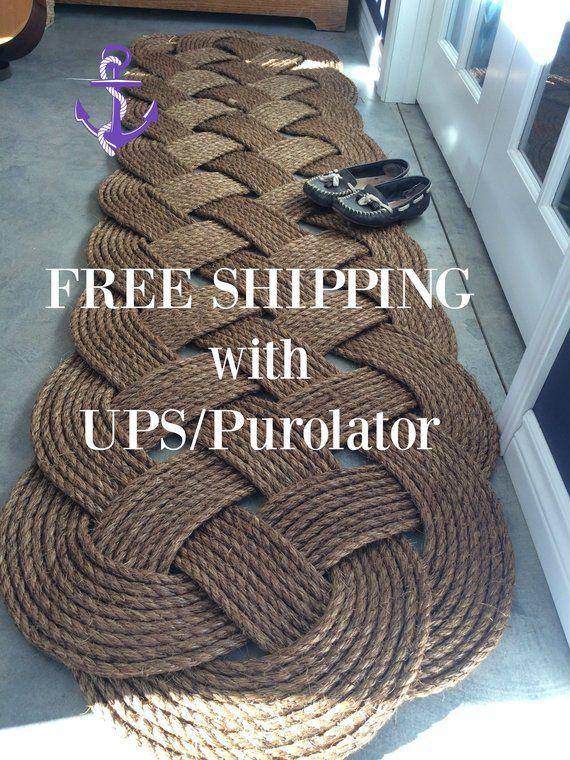 Nautical Runner Rope Runner 84 By 26 Inches 7 Feet Long Nautical Doormat And Runner Rope Rug Handmade Rug Shipped Handmade Rug How To Make Rope Handmade