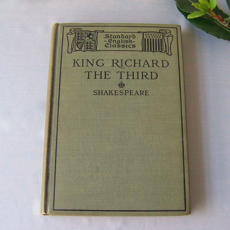 Vintage Shakespeare King Richard The Third 1908 Standard English Classics English Poet Playwright by cynthiasattic on Etsy