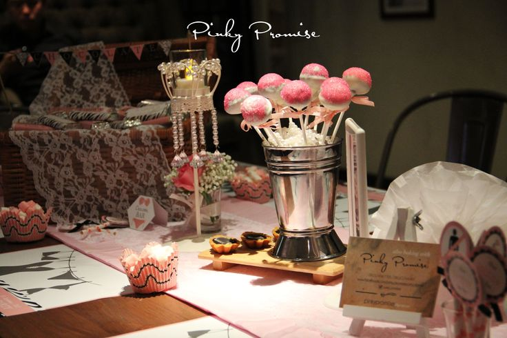 #bacheloretteparty #bachelorette #cakepops #pinkypromise #party #party themes