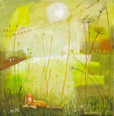 "Saatchi Art Artist Alexandra Krasuska; Painting, ""My time"" #art"