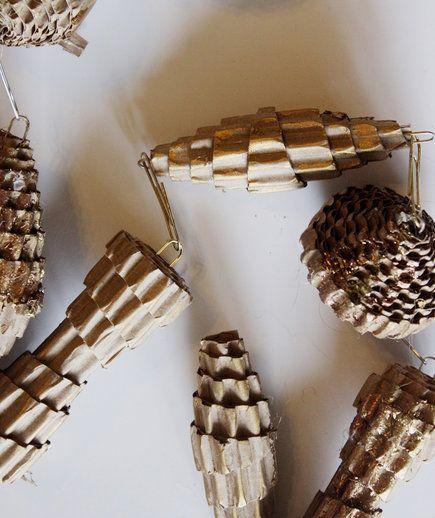 Craft Cardboard Pinecones