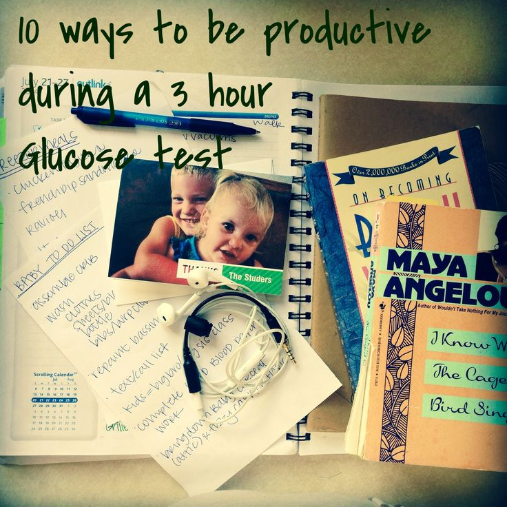 Team Studer: 10 Ways to be productive at a 3hour Glucose Test