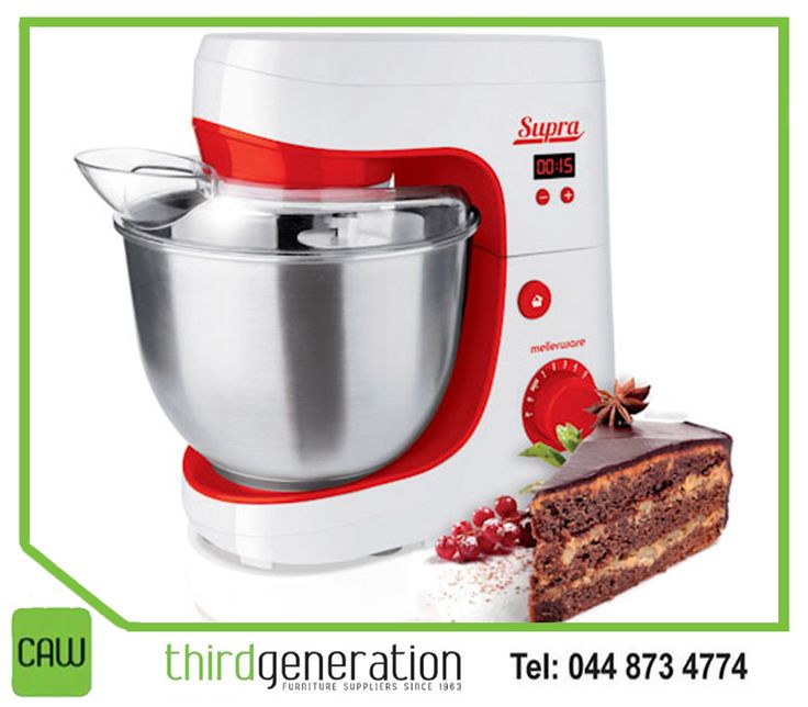 The stylish #Mellerware Supra Stand Mixer in red and white will be the perfect compliment in your kitchen. Get yours available from #ThirdGenerationCAW.