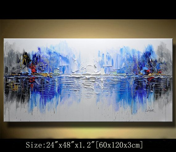 Wonderful Contemporary Decor Wall,blue Abstract Wall Art,painting Decorations For  Living Room.abstract Artwork For Walls,colorful Textured Art ,Chen