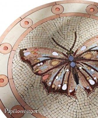 sicis franci nf arts design wevux grandi nomi per interni mosaic mosaico art factory mosaici-in-marmo-papillons_0