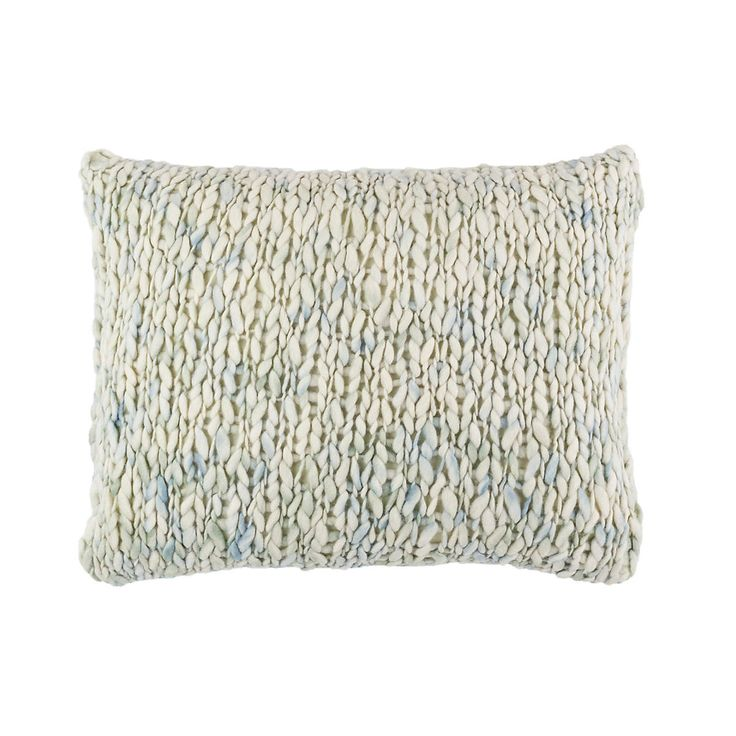 Chunky Knit Mist Decorative Pillow | Pine Cone Hill