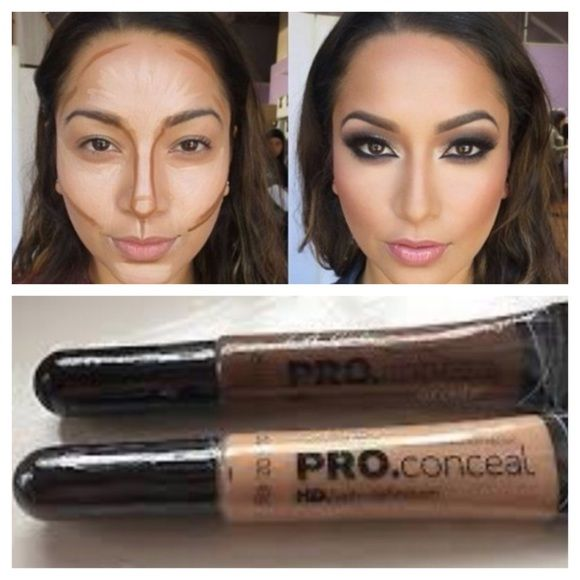 LA GIRLS PRO CONCEALER DUO AMAZING FORMULA MUCH LIKE MAC✨CONTOUR WITH SHADES BEAUTIFUL BRONZE & NUDECOMES WITH AN EASY TO USE BRUSH TIP APPLICATORTHESE ARE NEW AND SEALED La Pro Girl Makeup Concealer