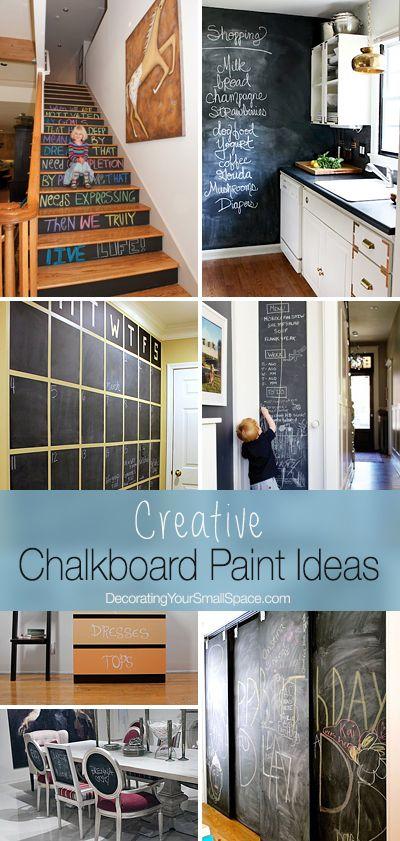 8 best images about chalk board ideas on pinterest for Unique chalkboard ideas