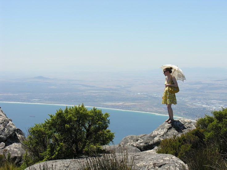 Enjoying view of Cape coastline from Table Mountain - City Tour