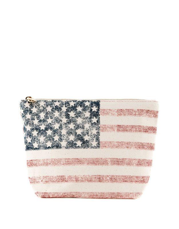 Pull & Bear - Neceser bandera EEUU