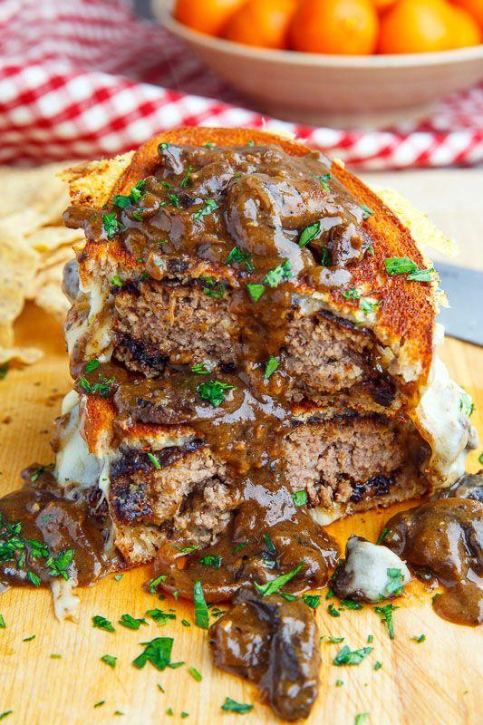 Salisbury Stek grillowany ser z sosie grzybowym