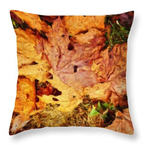 Autumn Leaves Throw Pillow For Sale By Joan Reese Throw