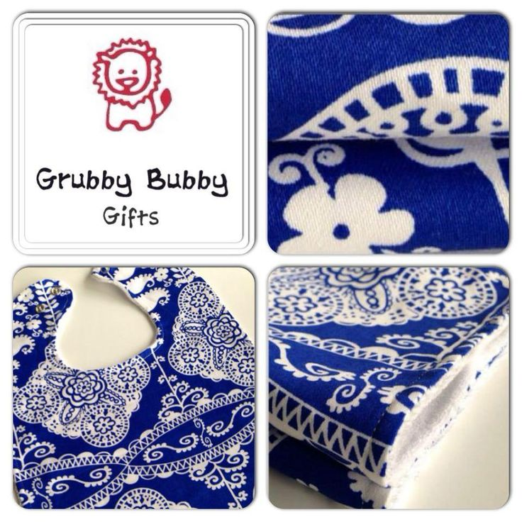 Handmade by Grubby Bubby Gifts Set 3 Large Adjustable Bibs
