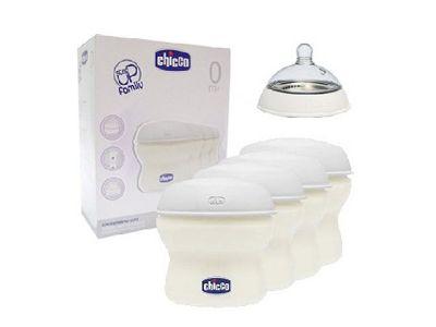 Chicco contenitori per latte materno Natural Feeling, con chiusura ermetica: permettono di conservare igienicamente il latte materno, preservandone i principi nutritivi.