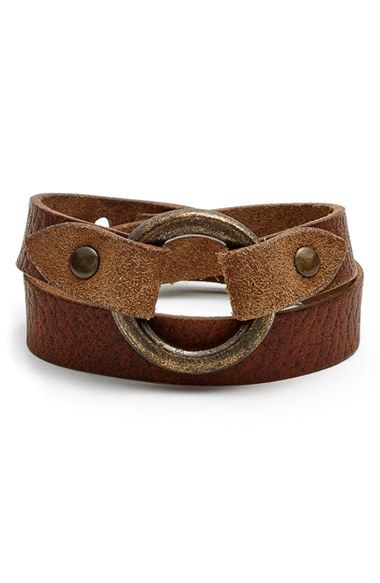 Frye 'Harness' Leather Wrap Bracelet
