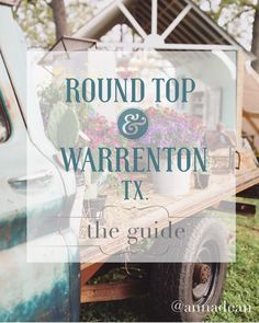 This weekend the girls and I are hitting the road to Round Top, TX for our annual girls junkin' trip! This sleepy little town is our favorite place to be & definitely holds a special plac…
