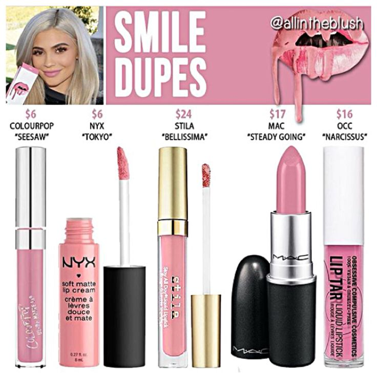 Kylie Jenner lip kit dupes for Smile