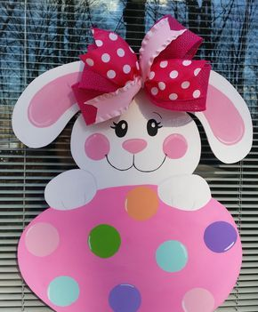 Bunny Door Hanger.  Easter Door Hanger.Easter Bunny Decoration. by MoniLulis on Etsy https://www.etsy.com/listing/502039465/bunny-door-hanger-easter-door