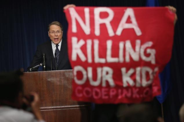 National Rifle Association Executive Vice President Wayne LaPierre goes off half-cocked.