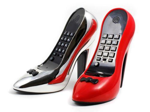 High-Heel-Telefon-Stoeckelschuh-Pumps-Heels-Damenschuh-in-Rot-oder-Silber