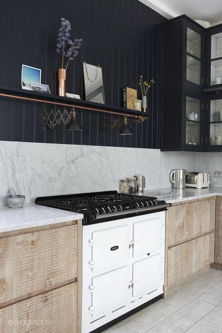 black and white kitchen. Scandinavian style