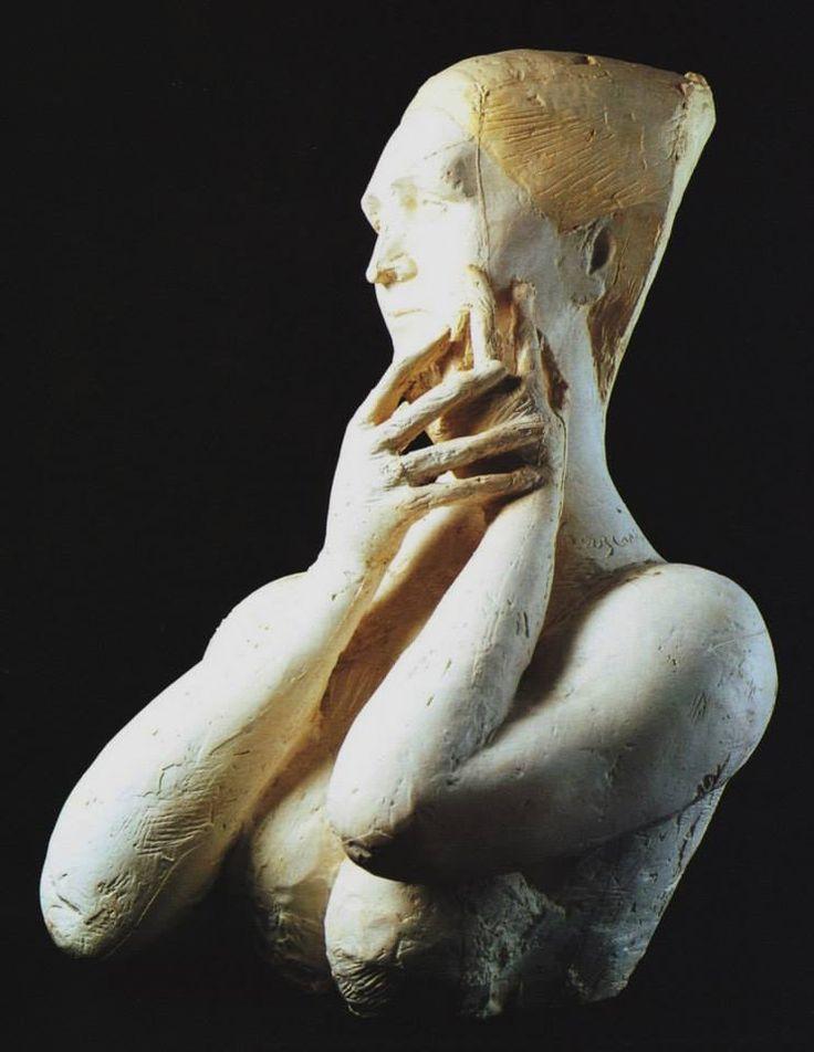Pericle Fazzini (1913-1987) Ritratto di Sibilla Aleramo n. 2, 1947. Coll. privata. (via Musei Italiani on Facebook)