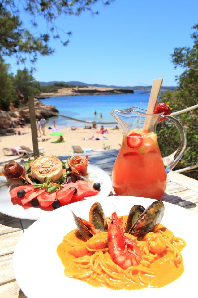 Delicious food and refreshing drinks in Ibiza, Spain. More of this can be found at theculturetrp.com