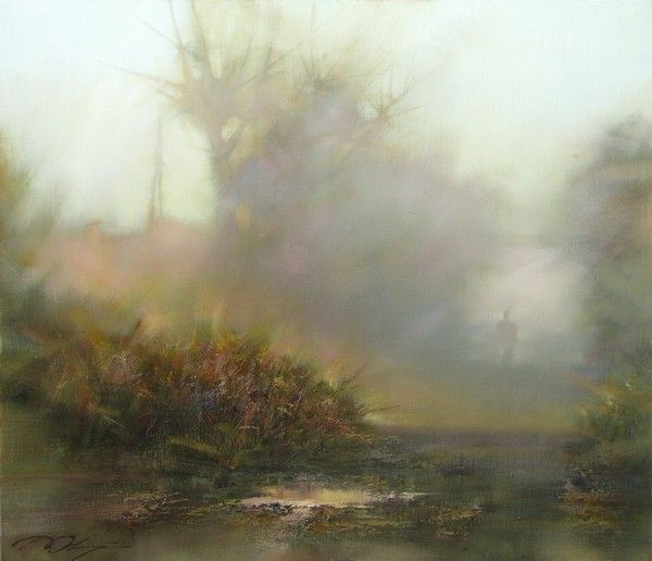 Уходящий туман-90х105 х.м 2010