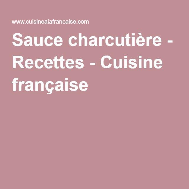 Sauce charcutière
