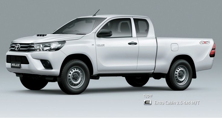 All New Hilux S Cab - Mobil Niaga Terbaik - AUTO2000 - Type E (Extra Cabin 2,5) 4x4 M/T white look