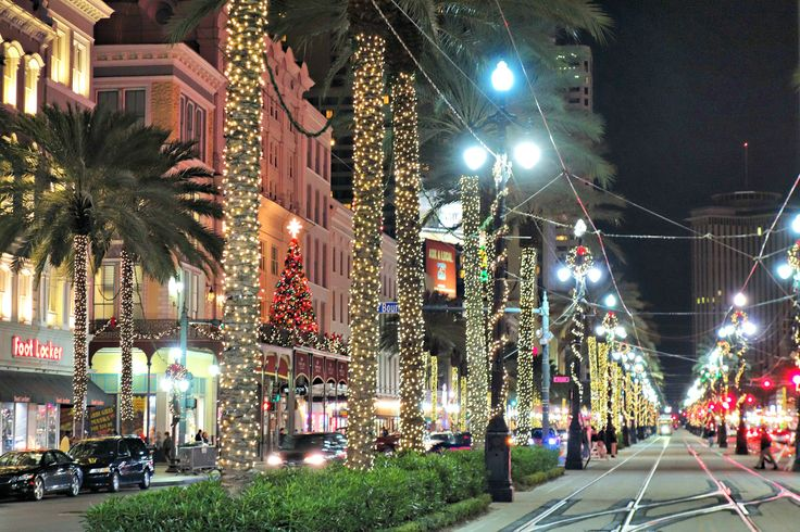It's beginning to look at lot like Christmas on Canal Street in New Orleans.