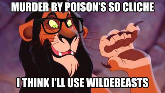 OMG hipster Scar! But still the saddest scene of all time! Simbas dad should have Mufasa. If you know what I mean...