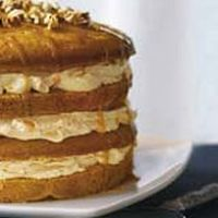 luscious four-layer pumkin cake. my sis-in-law shared this one with me.