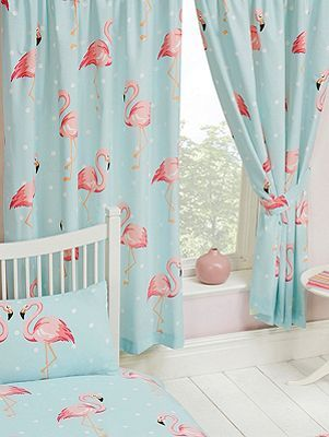 Fifi Flamingo 54 Lined Curtains