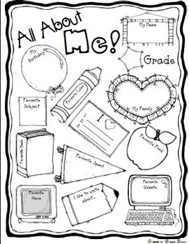 "FREE ""ALL ABOUT ME"" BACK TO SCHOOL POSTER"