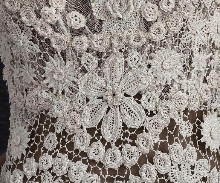 Irish Crochet Dress Free Patterns : 78+ ideas about Crochet Wedding Dresses on Pinterest ...