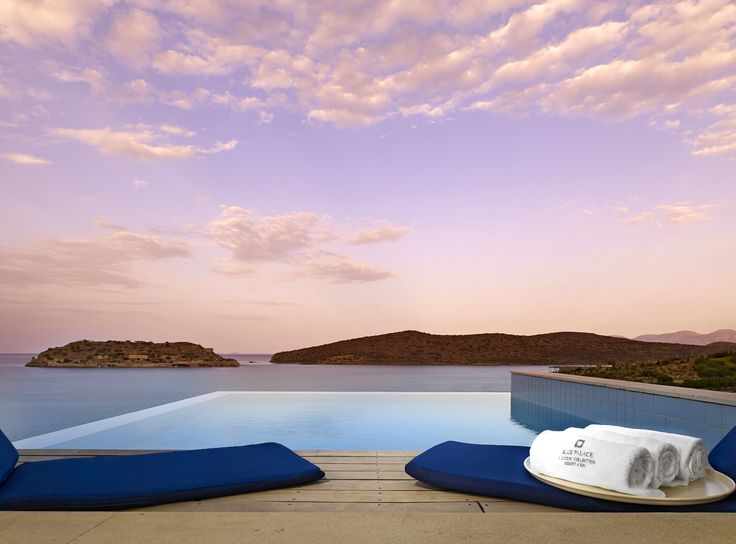 The magical view from the Superior Bungalow of Blue Palace Resort & Spa in Elounda, Crete
