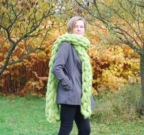 My work on Etsy https://www.etsy.com/listing/474661712/sale-chunky-long-scarf-100-wool-wool