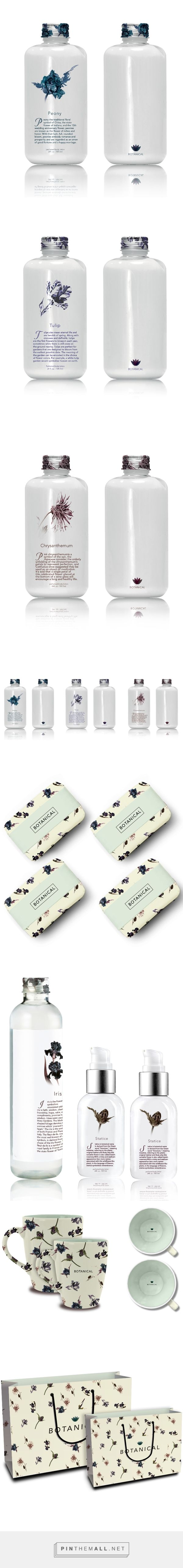 B O T A N I C A L on Behance by Diana Na curated by Packaging Diva PD. Branding packaging of body bath products. All of the scents are flowers.