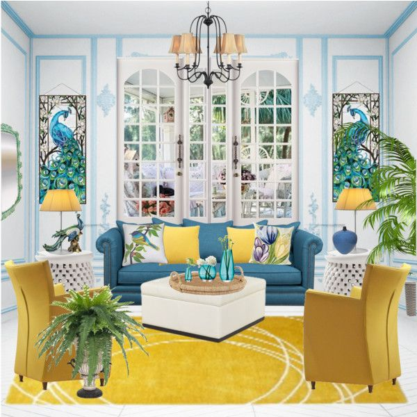 28 best living room images on pinterest living room for Blue and yellow living room ideas