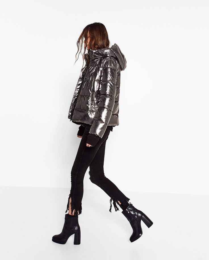 SHORT METALLIC JACKET-Quilted Coats-OUTERWEAR-TRF | ZARA United States