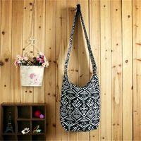 Vintage National Wind Shoulder Bag Cloth Crossbody Bag Canvas Shopping Bag