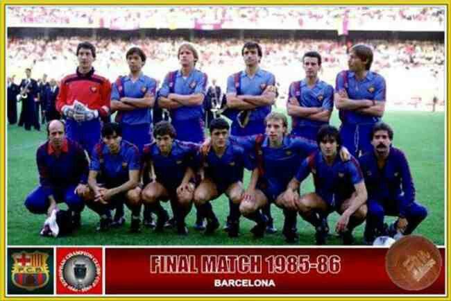 Barcelona team group in 1985-86.