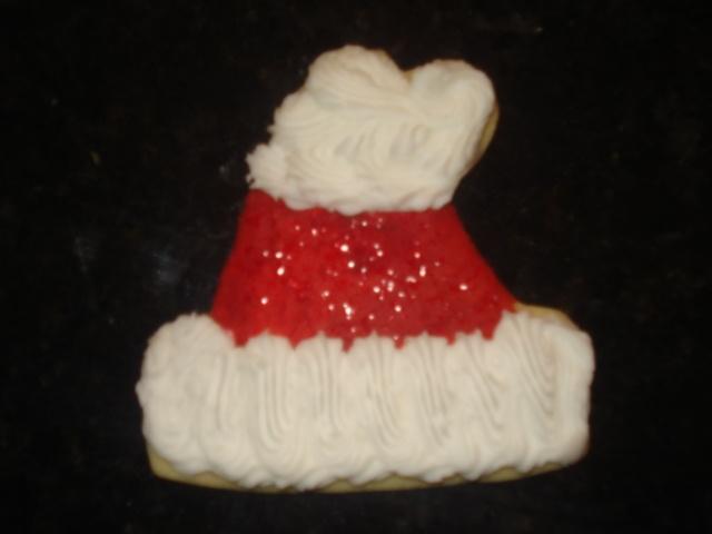 Santa Hat sugar cookie