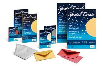 Special Events Top Collection  Piccole risme in carta/cartoncino metallizzata Majestic Favini dai riflessi brillanti e pregiati. Ideali per biglietti augurali, inviti, messaggi preziosi che rendono memorabili i momenti più importanti. Ogni colore è pensato per un'occasione speciale