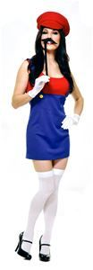 Patty the Plumber Adult Womens Costume #halloween #halloween #costumes #halloweencostumes #mariobros #videogames