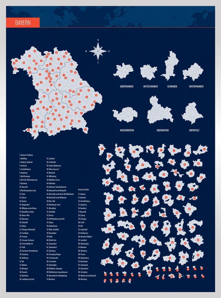Landkarte Bayern Mit Landkreisen Landkarte Bayern Landkarte Bayern Karte