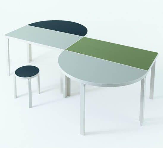 Artek - L-leg collection - Alver Aalto - http://huskdesignblog.com/imm-cologne-2017-produits-tendances/