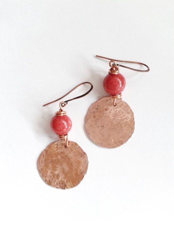 red jade earrings ethnic earrings ethnic dangle by tizianat